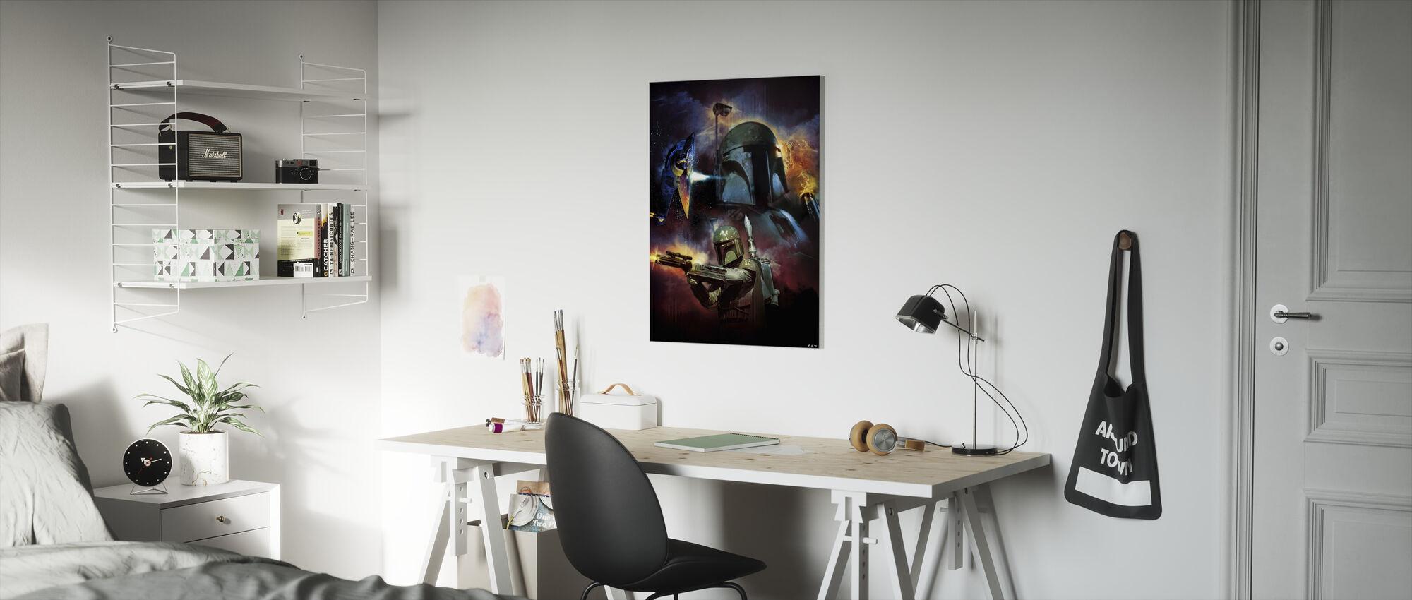 Star Wars - Boba Fett ruimte - Canvas print - Kinderkamer