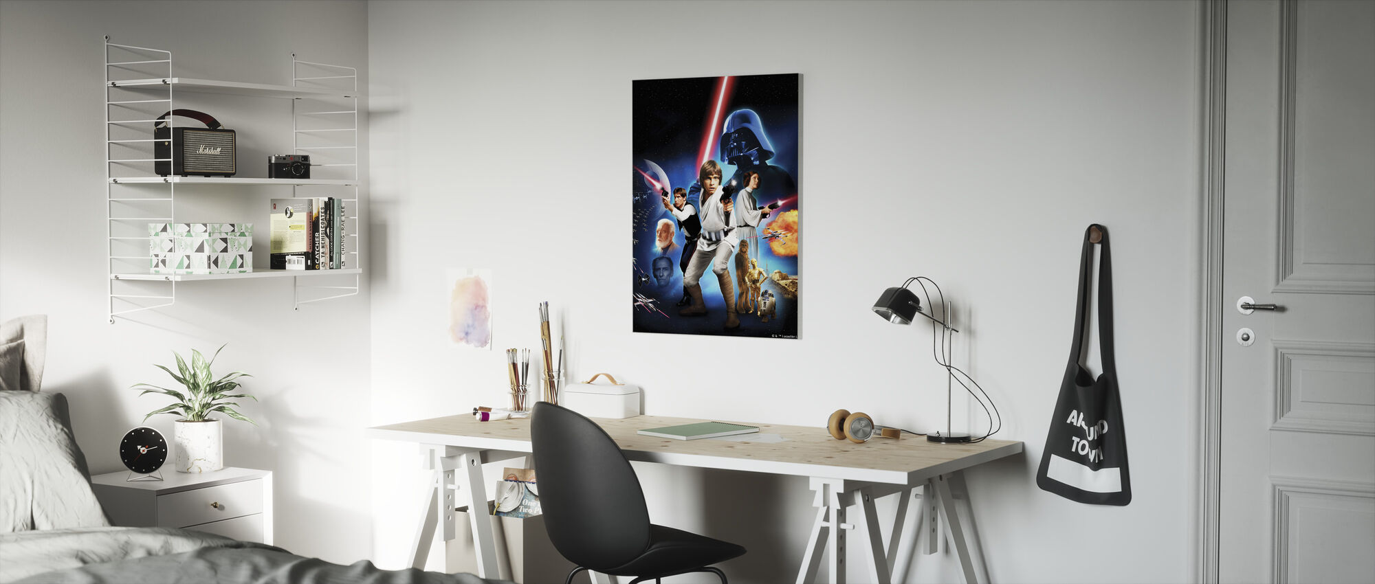 Star kriger - plakat 2 - Lerretsbilde - Barnerom