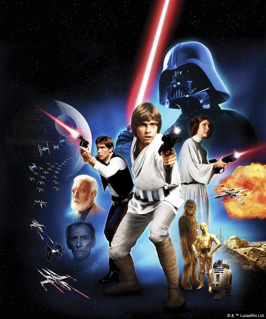Star Wars - Poster 2 Fototapeter & Tapeter 100 x 100 cm