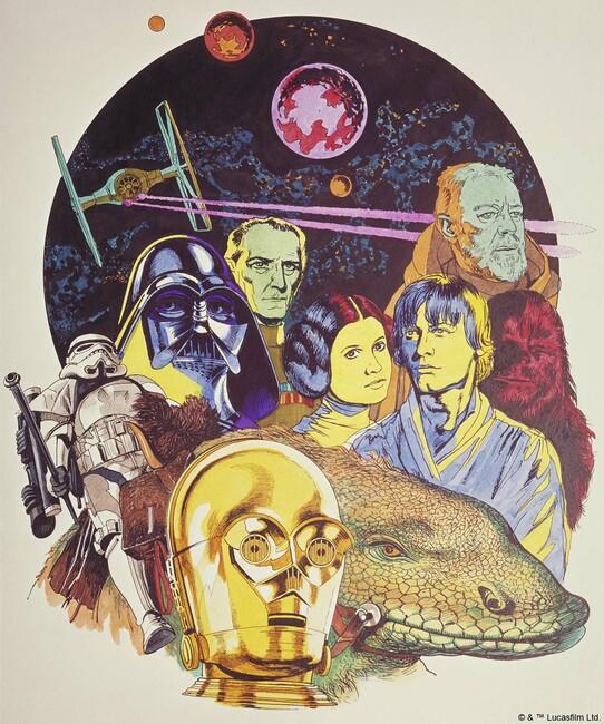 Star Wars - Poster 6 Fototapeter & Tapeter 100 x 100 cm