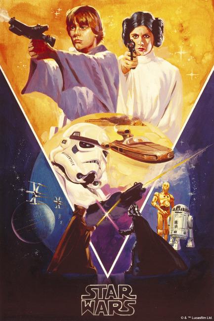 Star Wars - Poster 7 Fototapeter & Tapeter 100 x 100 cm