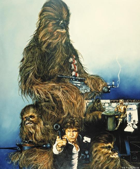 Star Wars - Chewbacca Poster Fototapeter & Tapeter 100 x 100 cm