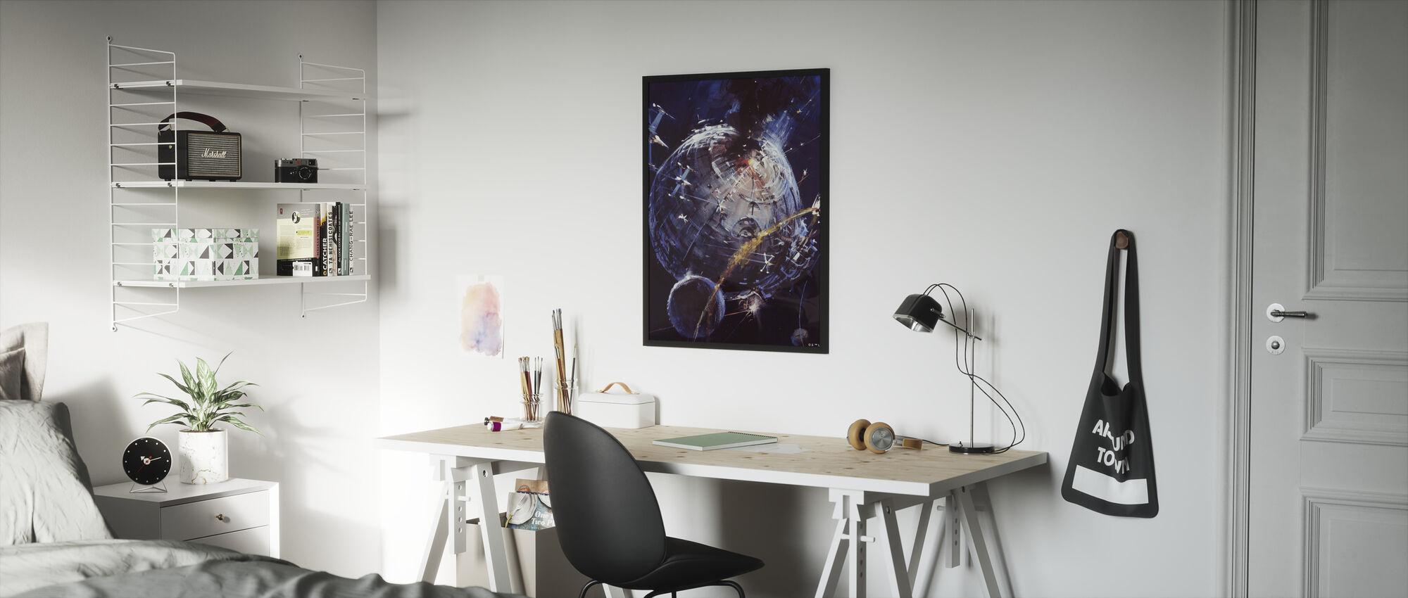 Tähtien sota - Kuolemantähti - Kehystetty kuva - Lastenhuone