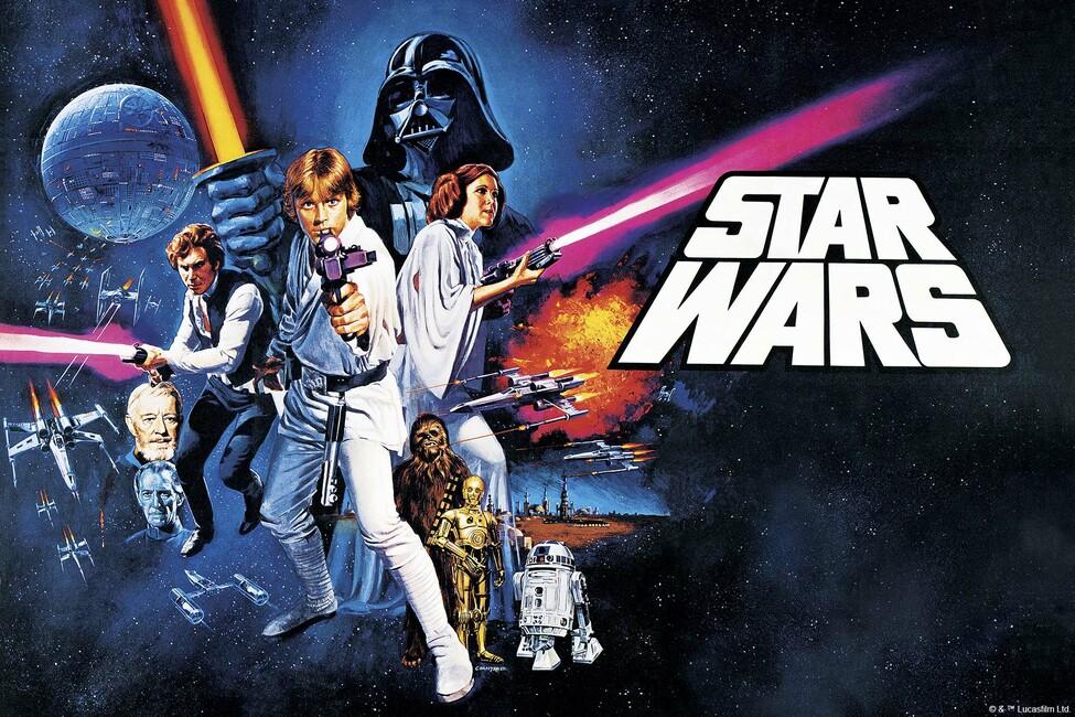 Star Wars - Poster 12 Fototapeter & Tapeter 100 x 100 cm