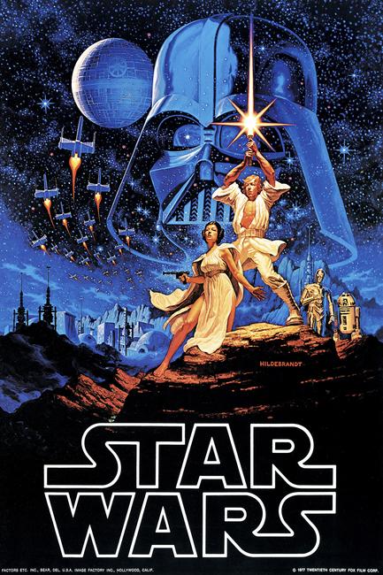Star Wars - Blue Sky Poster Fototapeter & Tapeter 100 x 100 cm