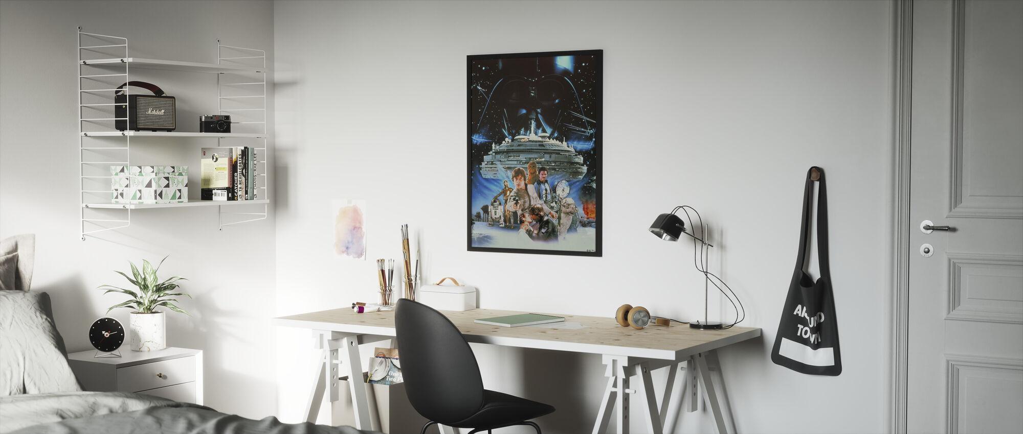 Tähtien sota - Millennium Falcon - Kehystetty kuva - Lastenhuone