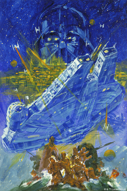 Star Wars - Falcon Fototapeter & Tapeter 100 x 100 cm