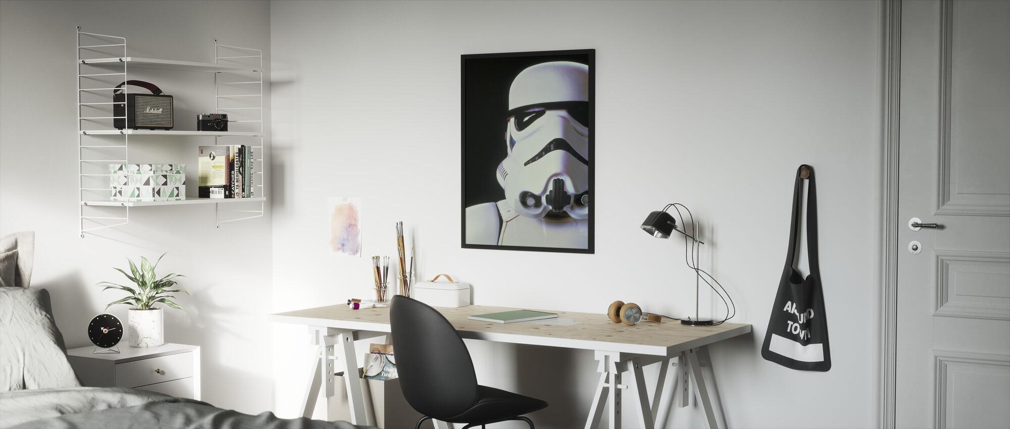 Tähtien sota - Stormtrooper - Kehystetty kuva - Lastenhuone