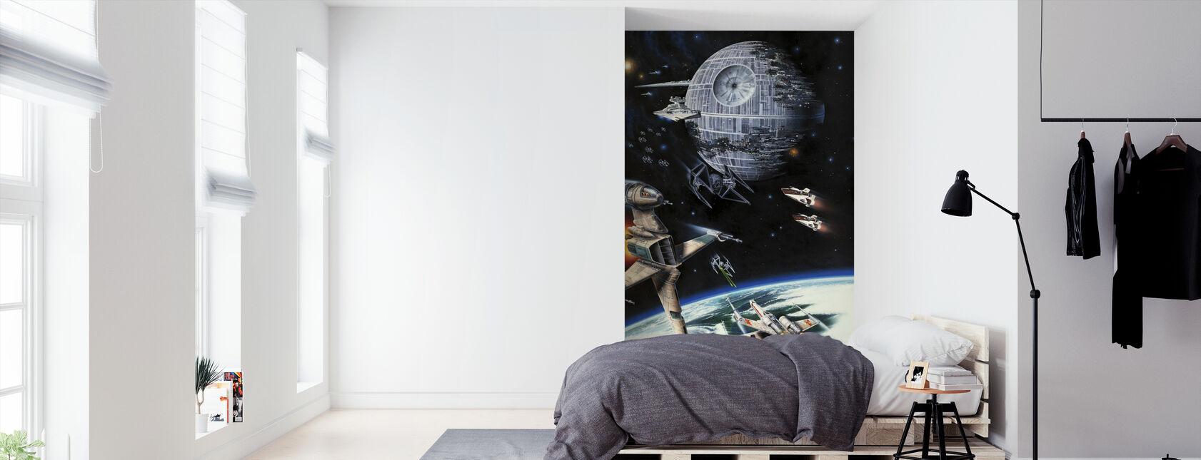 Tähtien sota - Kuolemantähti ja Endor - Tapetti - Makuuhuone