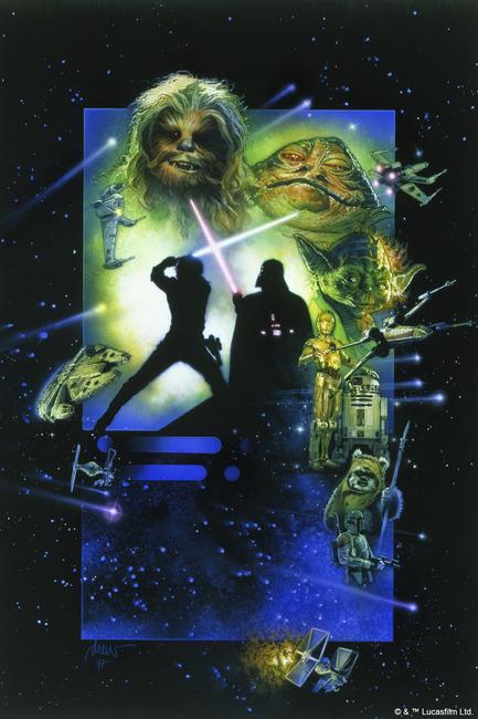 Star Wars - Poster 20 Fototapeter & Tapeter 100 x 100 cm