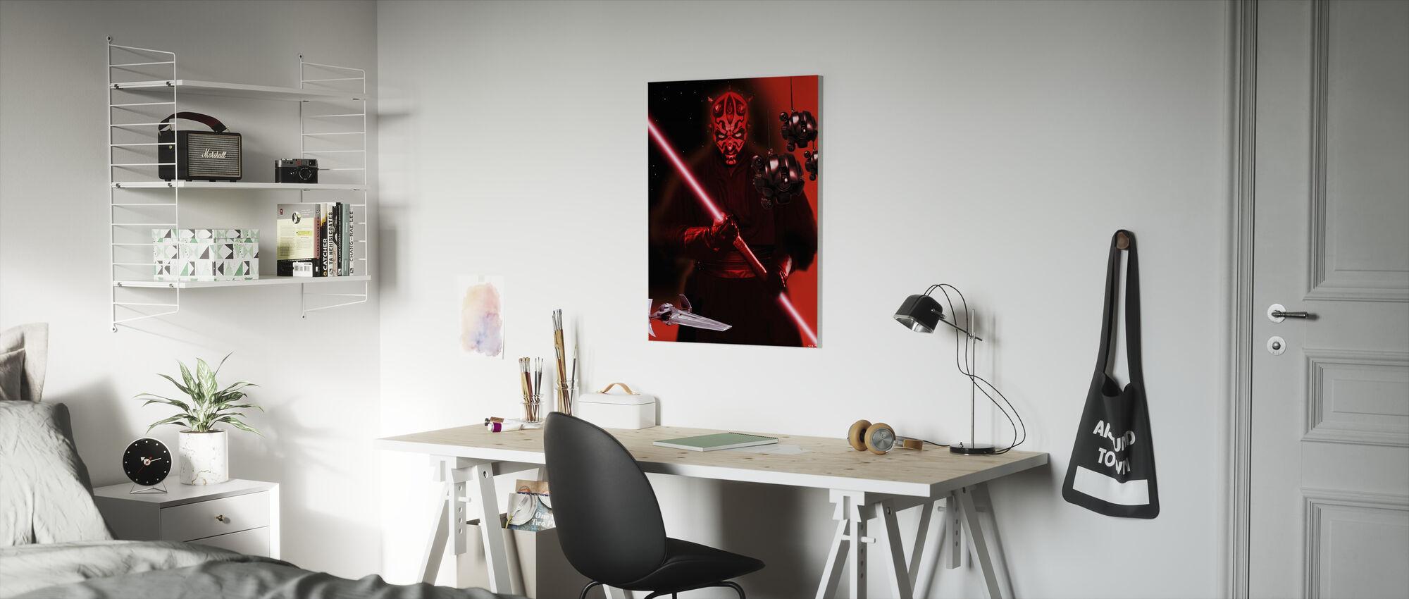 Star Wars - Darth Maul og Sith sonde droider - Billede på lærred - Børneværelse