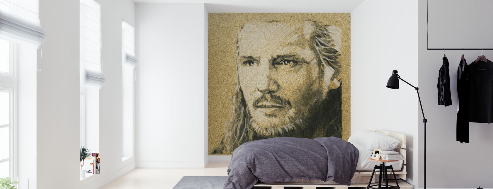 Star Wars - Qui-Gon Jinn grafitt - Tapet - Soverom