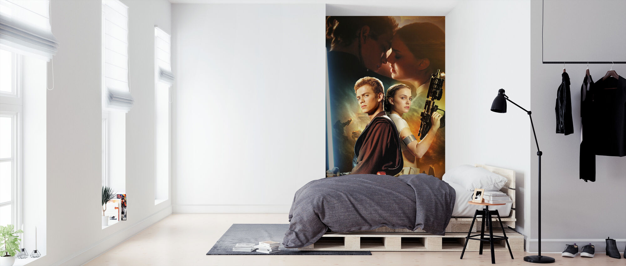 Star Wars - Anakin Skywalker og Padme Amidala våben - Tapet - Soveværelse