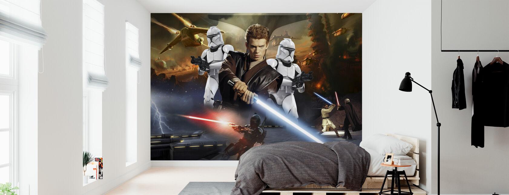 Star Wars - Anakin Skywalker og klon troopers - Tapet - Soveværelse