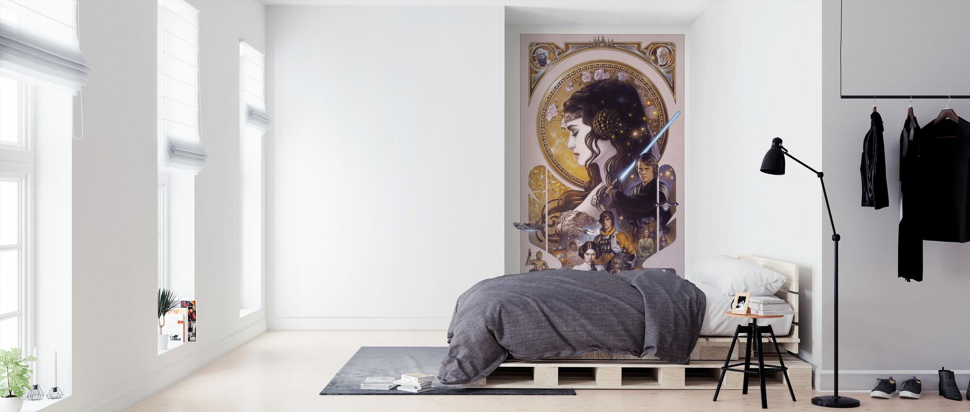 Star Wars - Anakin Skywalker og Padme Amidala kunstverk - Tapet - Soverom