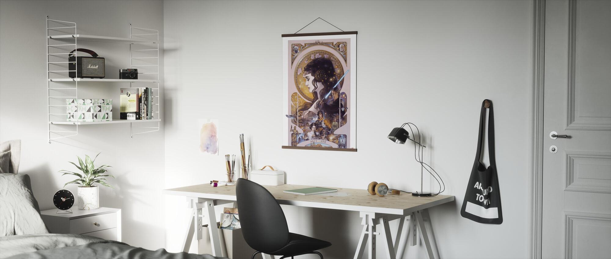 Stjärnornas krig - Anakin Skywalker och Padme Amidala konstverk - Poster - Kontor