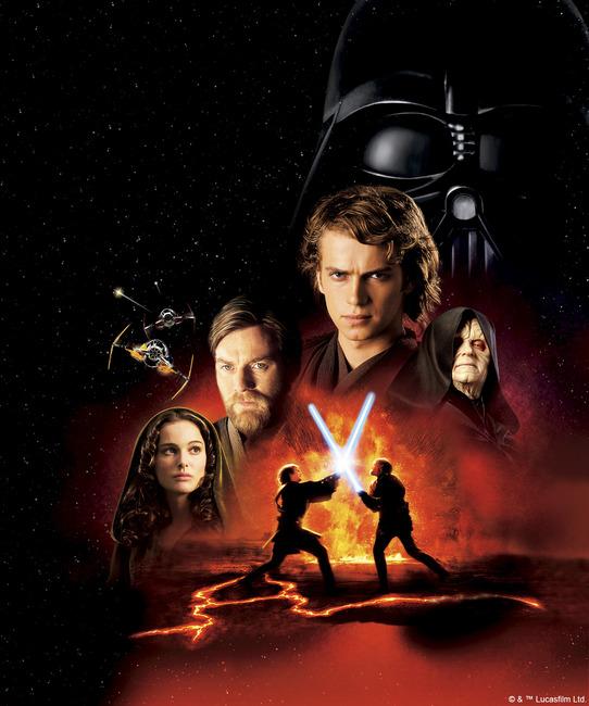Star Wars - Lava Fight 1 Fototapeter & Tapeter 100 x 100 cm