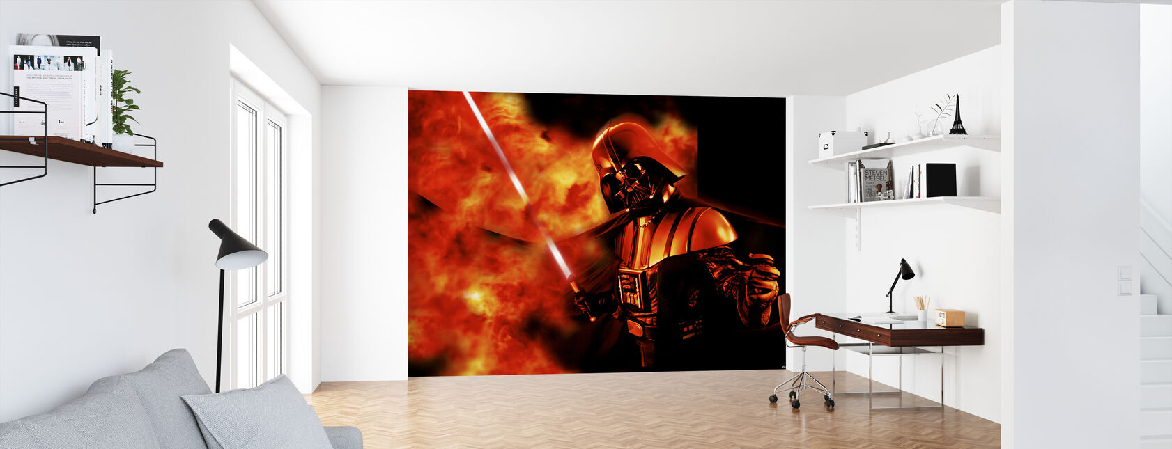 Star Wars - Darth Vader eksplosion 2 - Tapet - Kontor