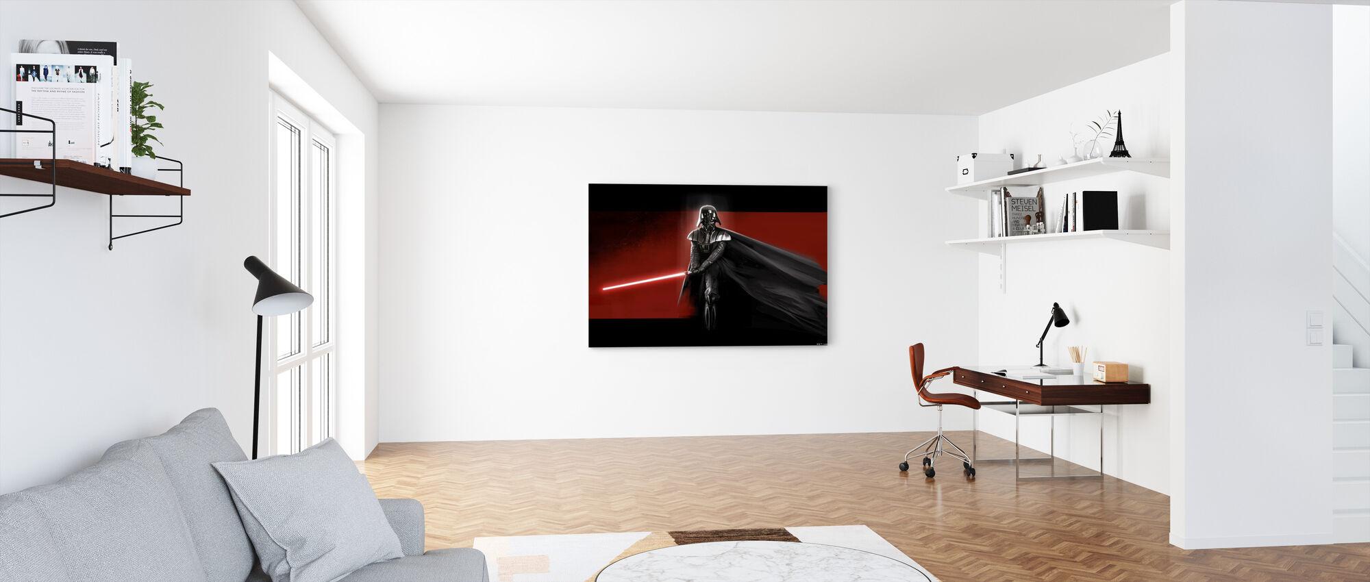 Star Wars - Darth Vader Rød - Billede på lærred - Kontor