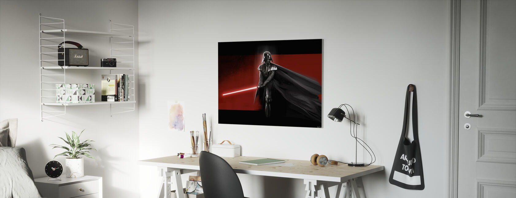 Tähtien sota - Darth Vader Punainen - Canvastaulu - Lastenhuone