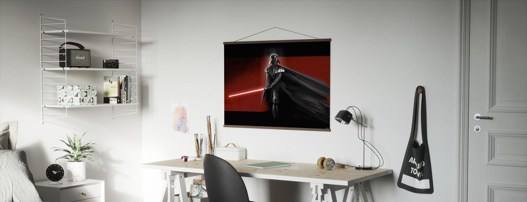 Tähtien sota - Darth Vader Punainen - Juliste - Toimisto