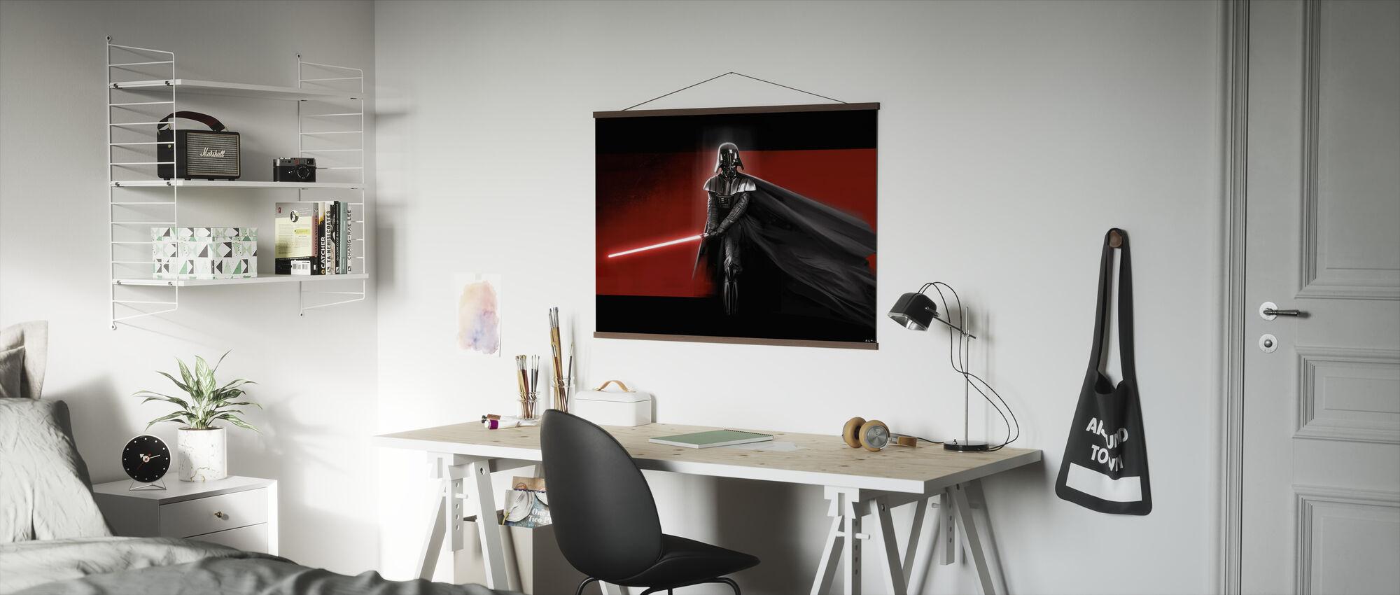 Star Wars - Darth Vader Rød - Plakat - Kontor