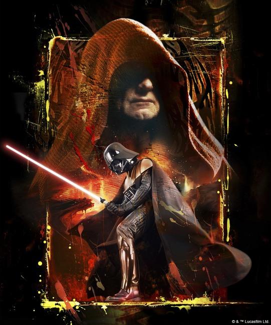 Star Wars - Palpatine and Darth Vader Fototapeter & Tapeter 100 x 100 cm