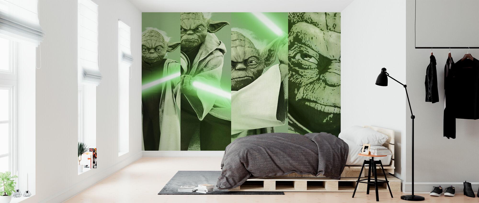 Stjärnornas krig - Yoda x 4 - Tapet - Sovrum
