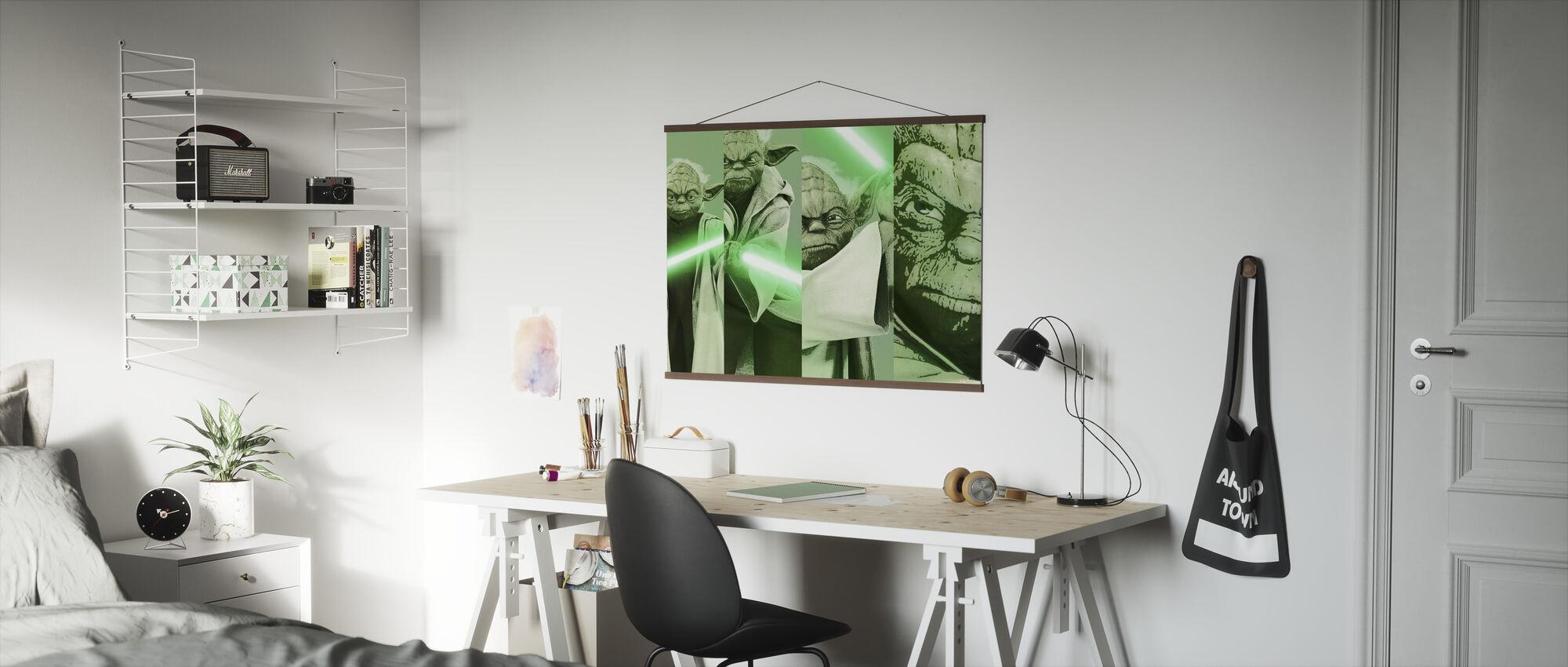 Stjärnornas krig - Yoda x 4 - Poster - Kontor