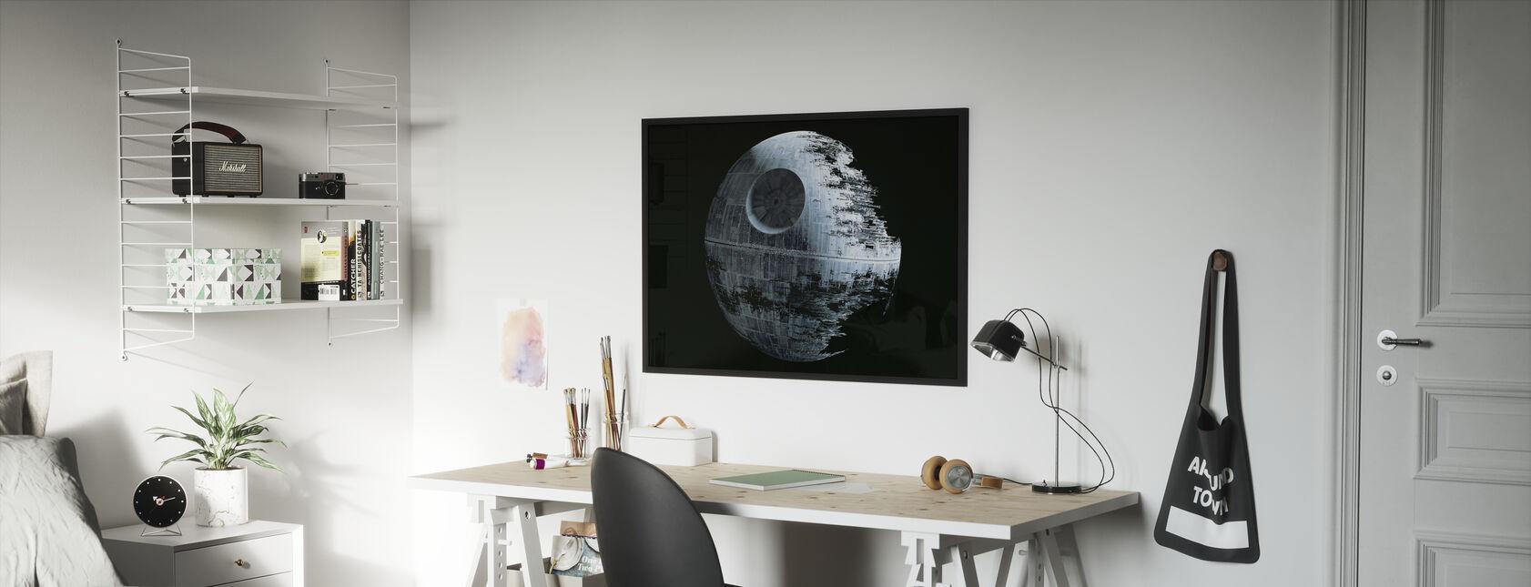 Star Wars - Død Star 2 - Indrammet billede - Børneværelse