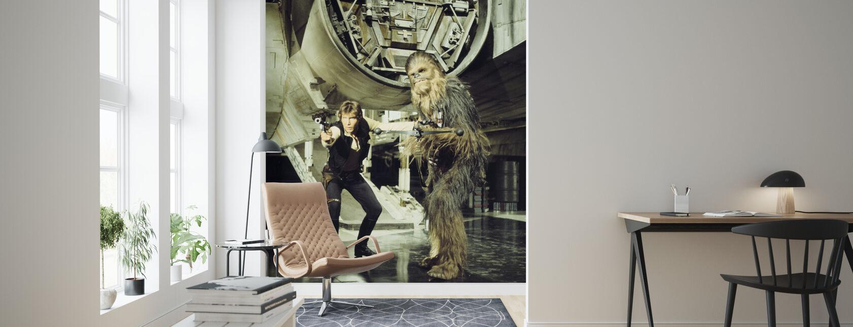 Stjärnornas krig - Han Solo och Chewbacca - Tapet - Vardagsrum