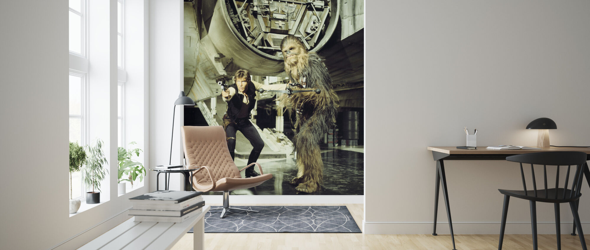 Star Wars - Han Solo og Chewbacca - Tapet - Stue