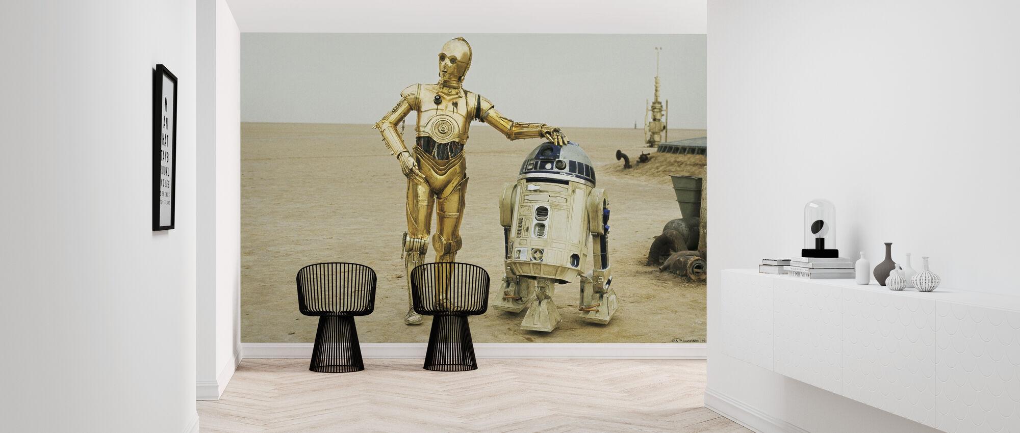 Stjärnornas krig - R2-D2 och C-3PO - Tapet - Hall