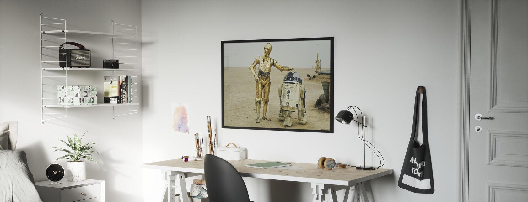 Stjärnornas krig - R2-D2 och C-3PO - Inramad tavla - Barnrum