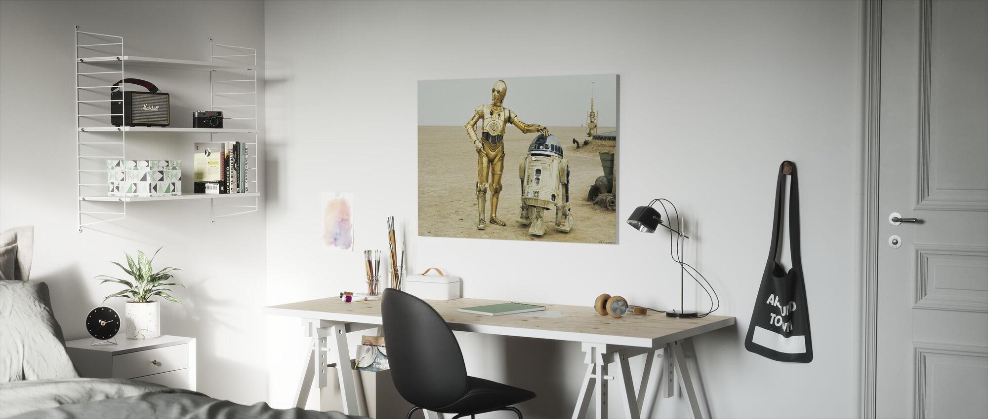 Star Wars - R2-D2 og C-3PO - Lerretsbilde - Barnerom