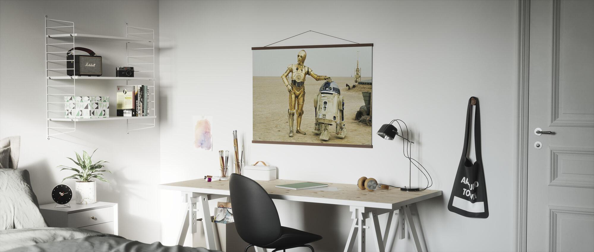 Star Wars - R2-D2 og C-3PO - Plakat - Kontor