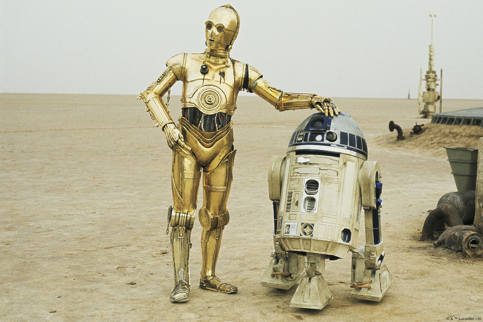 Star Wars - R2-D2 and C-3PO Fototapeter & Tapeter 100 x 100 cm