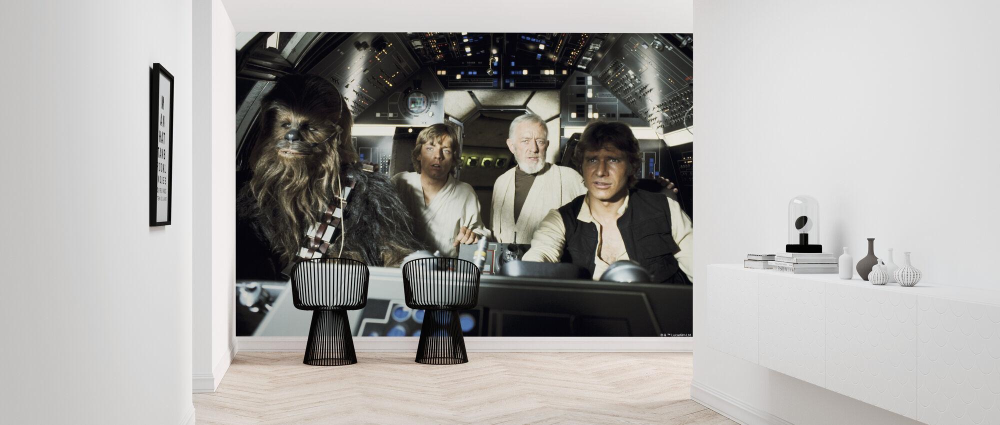 Star Wars - Millennium Falcon Luke Skywalker - Tapet - Entré