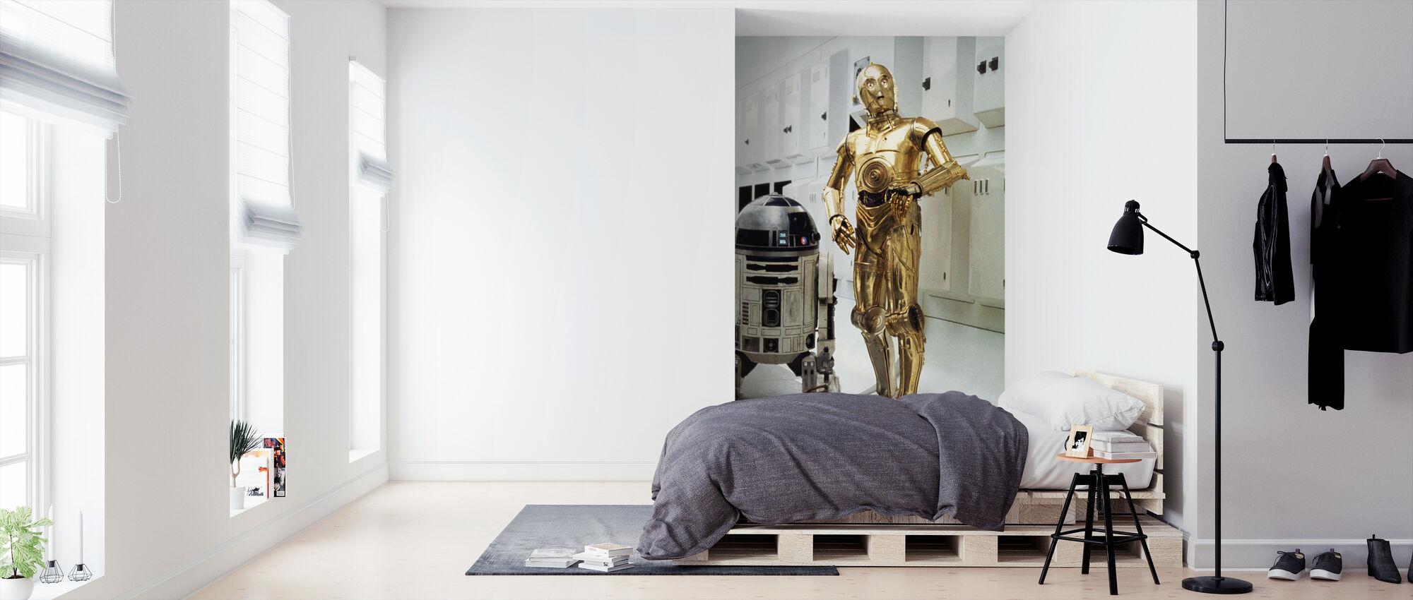 Stjärnornas krig - R2-D2 och C-3PO Interiörer - Tapet - Sovrum