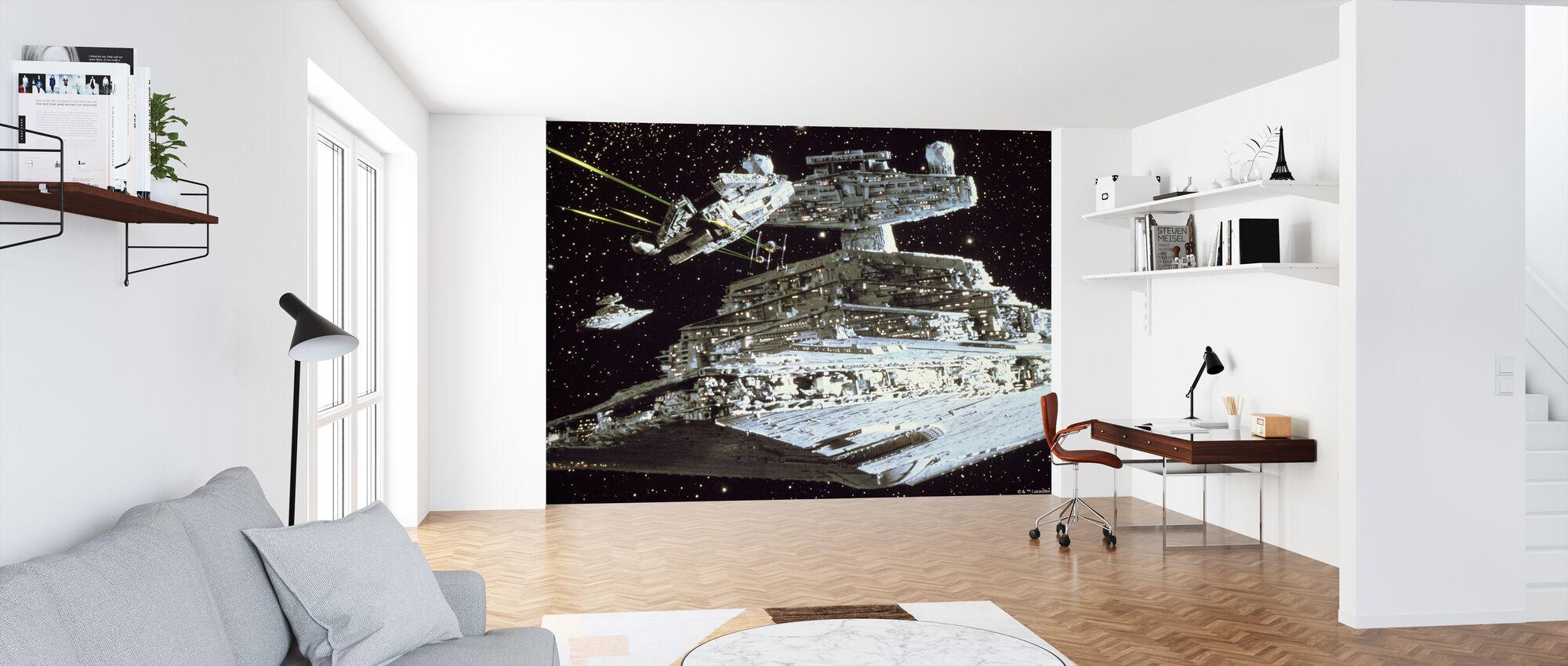 Star Wars - Millennium Falcon angreb - Tapet - Kontor