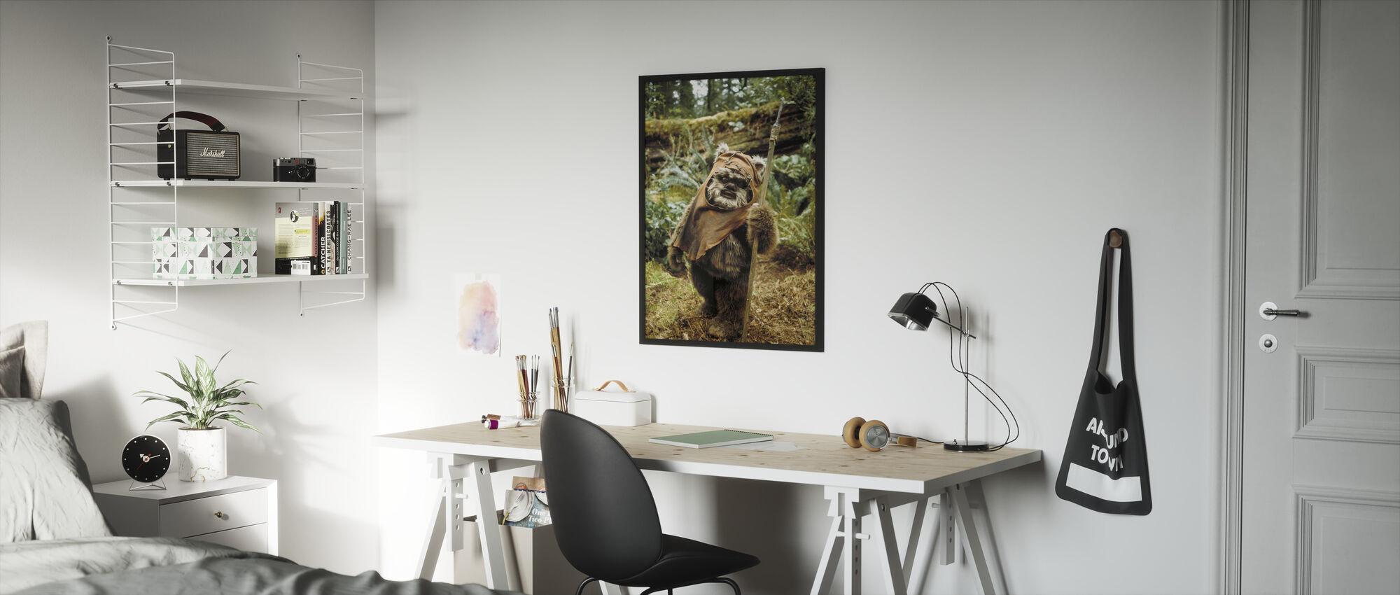 Star Wars - Ewok Wicket - Kehystetty kuva - Lastenhuone