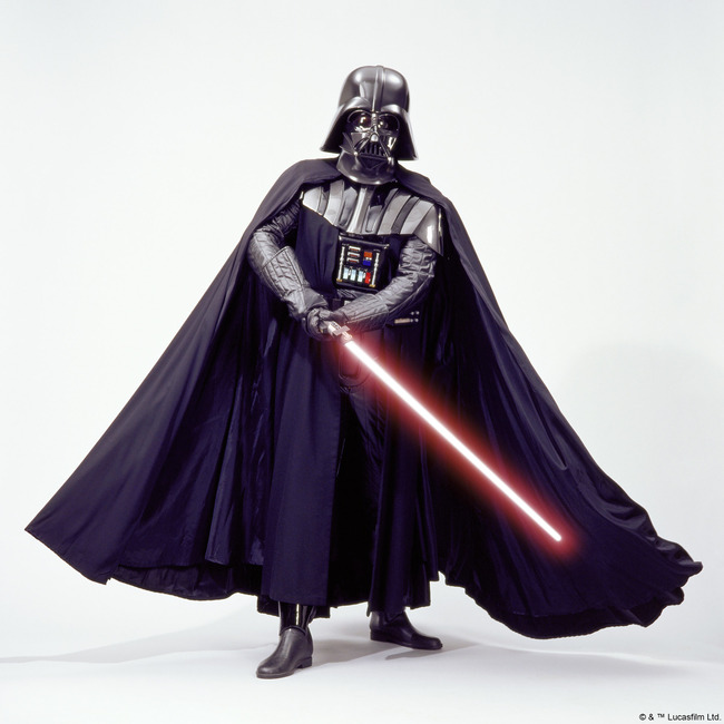 Star Wars - Darth Vader Lightsaber 2 Fototapeter & Tapeter 100 x 100 cm