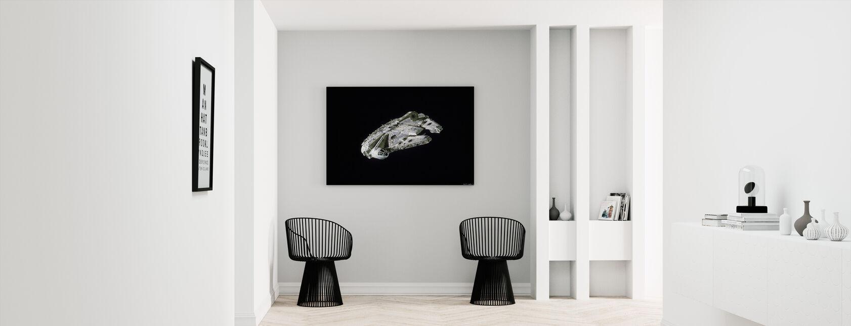 Star Wars - Millennium Falcon Space - Billede på lærred - Entré
