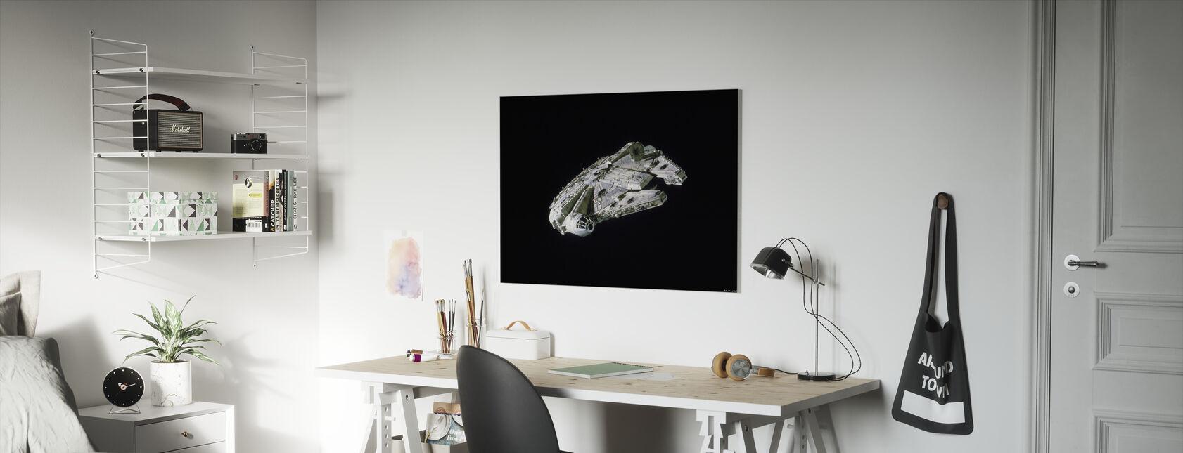 Star Wars - Millennium Falcon Space - Billede på lærred - Børneværelse