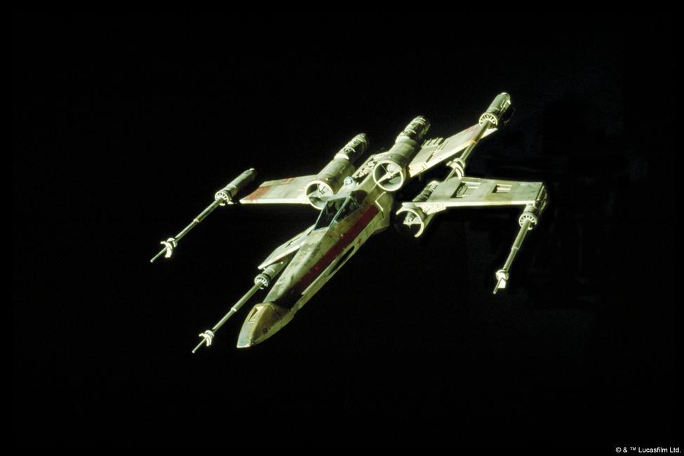 Star Wars - X-wing Starfighter Fototapeter & Tapeter 100 x 100 cm