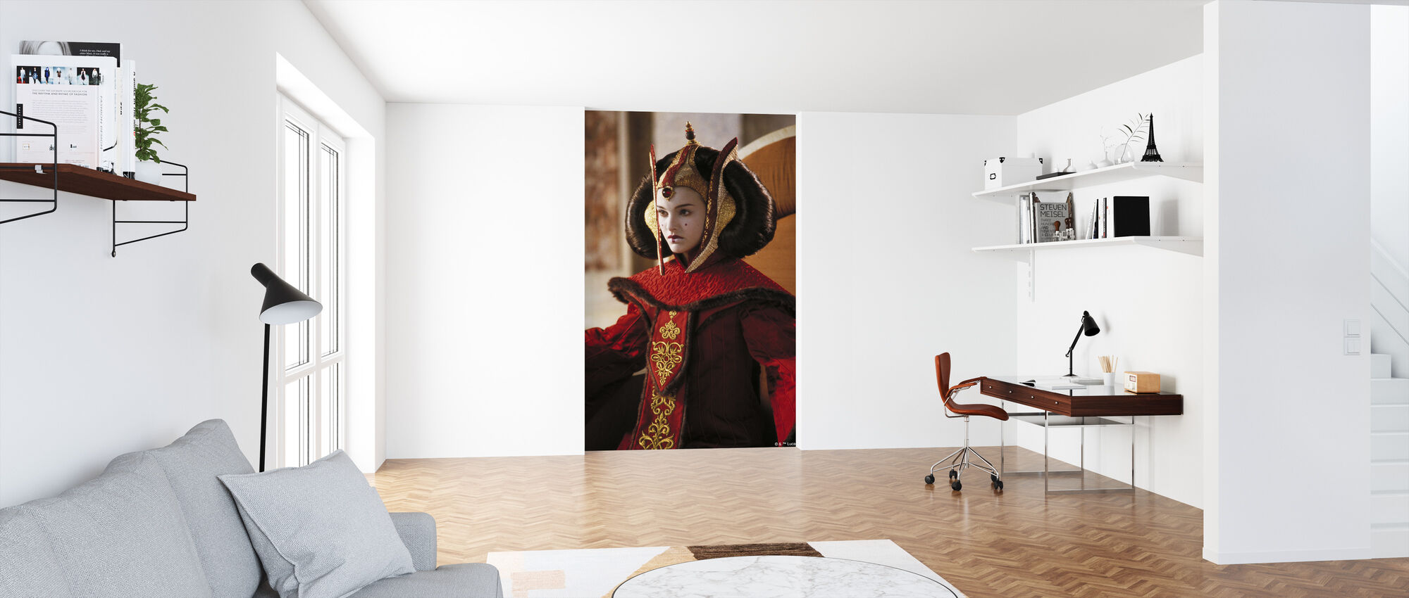 Star Wars - Padme Amidala i trone værelse - Tapet - Kontor