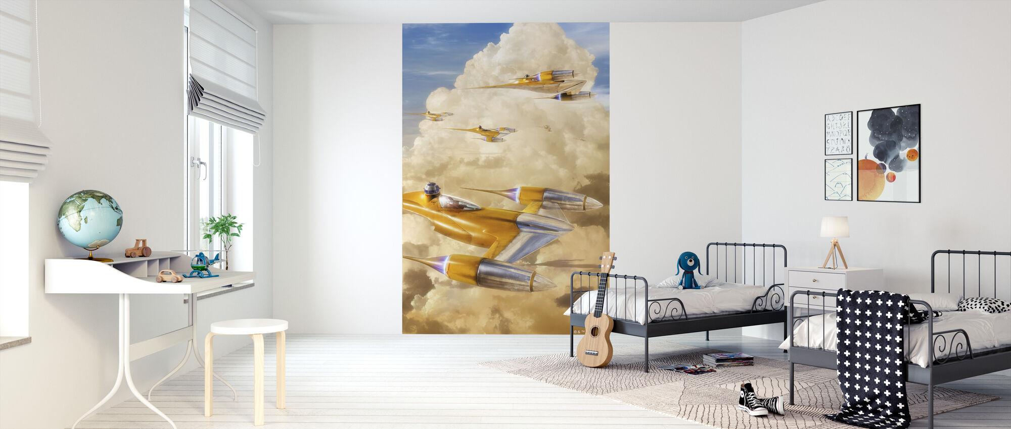 Tähtien sota - Naboo Starfighters Pilvet - Tapetti - Lastenhuone