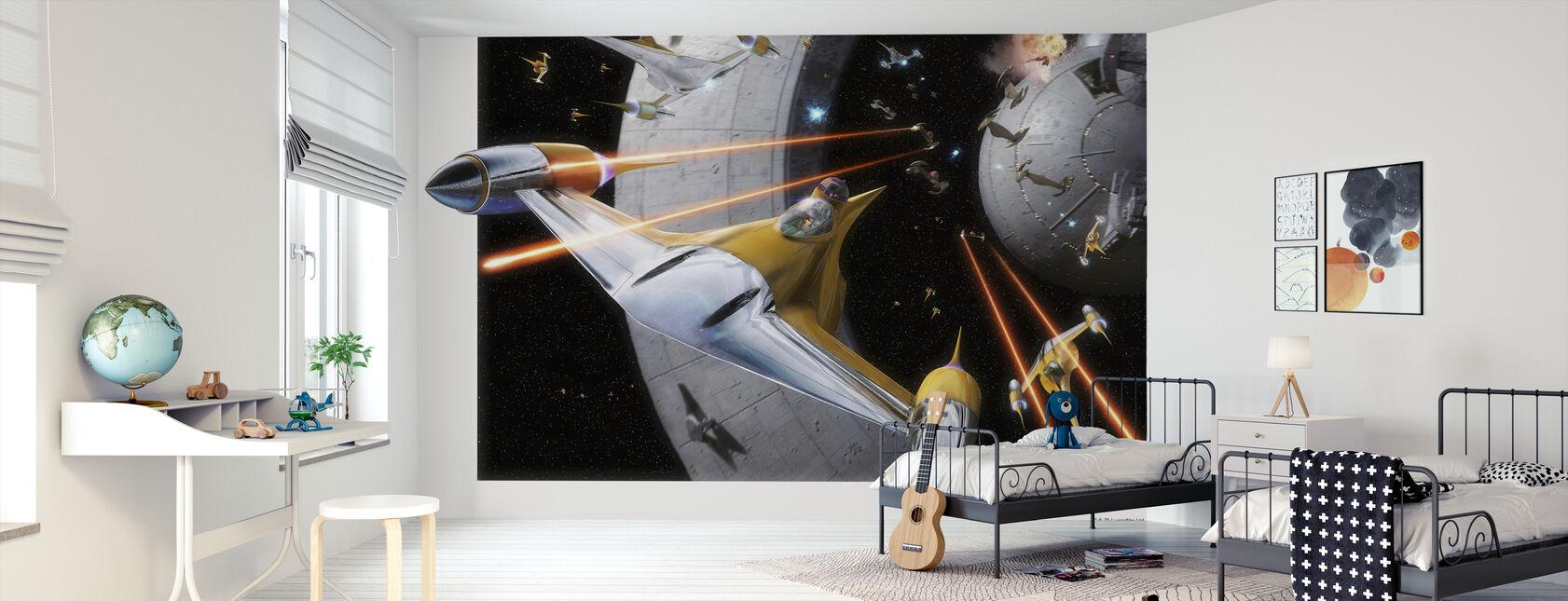 Star Wars - Anakin i Naboo Starfighter - Tapet - Barnerom