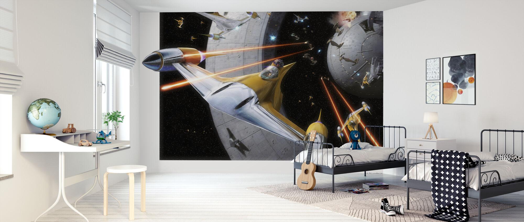 Stjärnornas krig - Anakin i Naboo Starfighter - Tapet - Barnrum