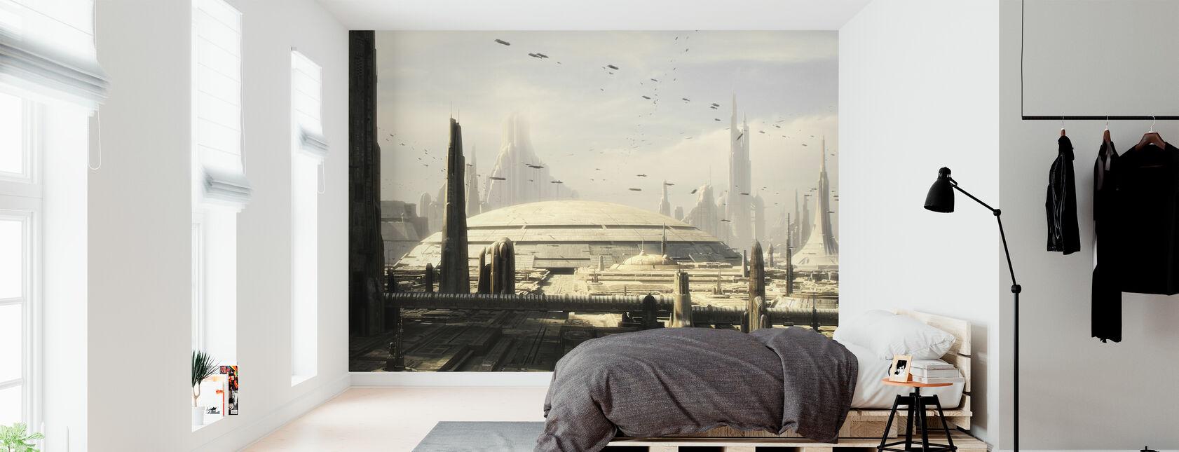 Star Wars - Coruscant Bygninger 1 - Tapet - Soverom